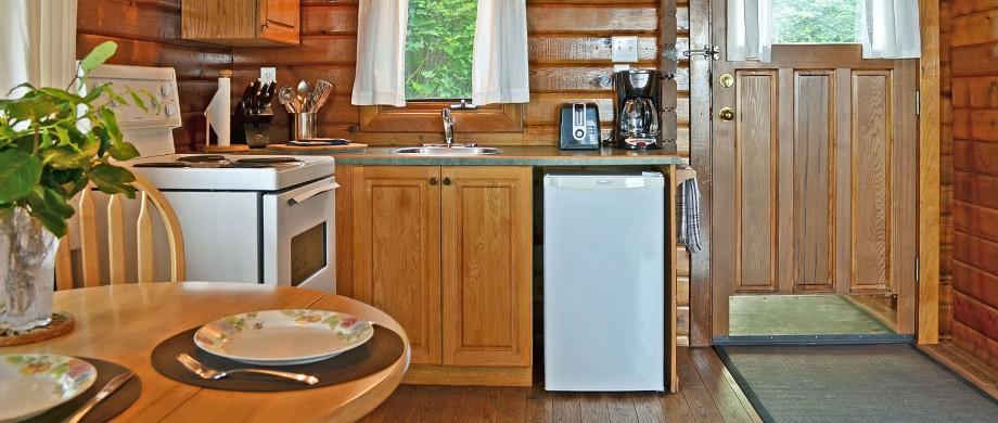 point no point resort cabins 13 & 15 kitchen