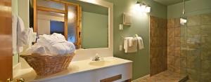 point no point resort cabins 5 & 6 bathroom