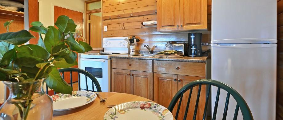 point no point resort cabins 5 & 6 kitchen