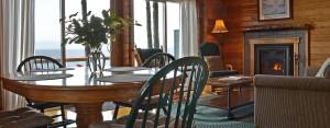 point no point resort cabin A Glacier Loft dining-livingroom