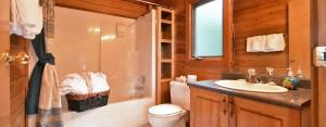 point no point resort cabins C & D bathroom
