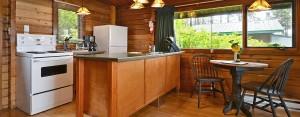 point no point resort cabins C & D kitchen