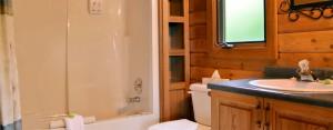 cabin c humming bird cabin bathroom at point no point resort