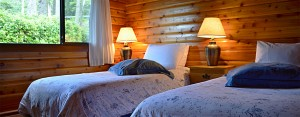 cabin 11 grace's log cabin bedroom at point no point resort