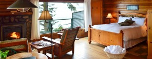 cabin 13 interior at point no point resort, vancouver island