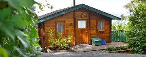 exterior of cabin 15 at point no point resort, vancouver island